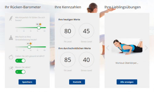 Screenshot Online Rückenschule